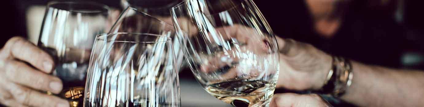 Weinpräsentation im Weingut